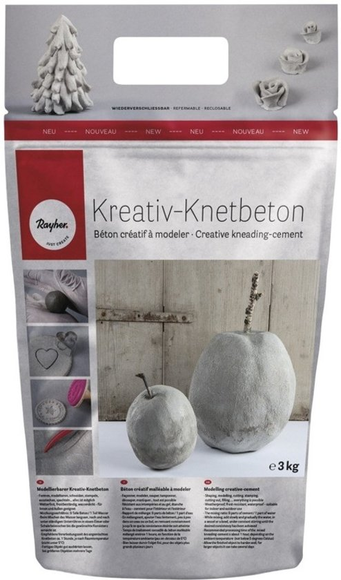 Creatief Met Klei.Creatief Betonklei Kneedbaar 3 Kg Kneedbaar Cement Klei Hobby Knutsel Materiaal