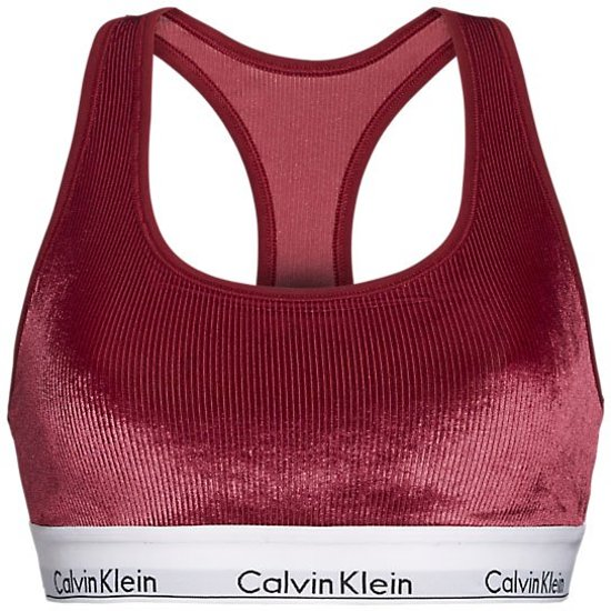 Calvin Klein dames bralette unlined ribstof bordeauxrood