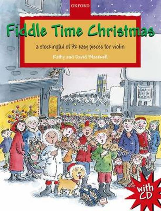 Boek cover Fiddle Time Christmas + CD van Kathy Blackwell (Onbekend)