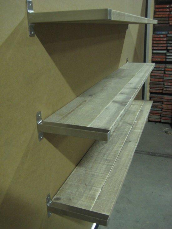 Hedendaags bol.com | Steigerhouten boekenplank met RVS beugels Ryde XL EM-28