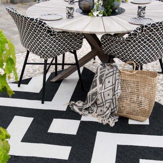 Binnen & Buiten vloerkleed Art - Design by Yvonne Kwakkel 80x150 cm Zwart & Wit