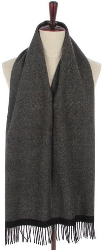 bol | mooie heren sjaal herringbone|wollen shawl|visgraat|grijs