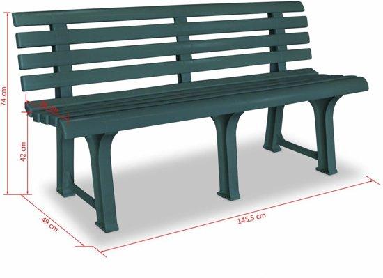 vidaXL Tuinbank 145,5 cm kunststof groen