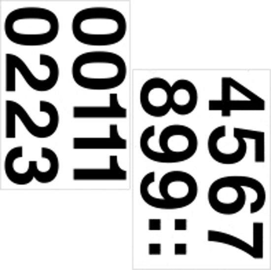 Herma 4189 Etiket met getallen 0-9 33mm Zwart