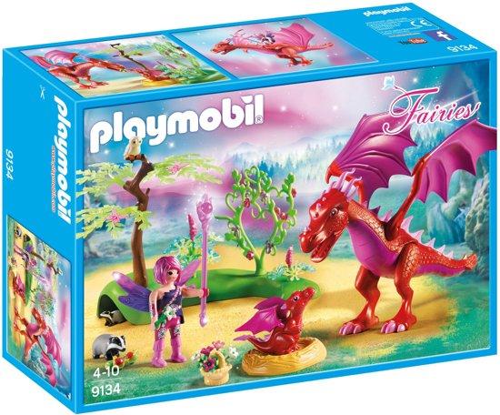 PLAYMOBIL Drakenhoeder met rode draken  - 9134