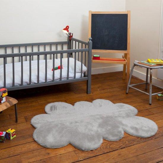 bol.com  Vloerkleed Kinderkamer Wolk Licht Grijs - 130x90 cm