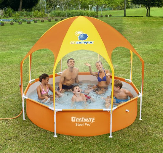 Bestway Opblaaszwembad Splash-in-shade Play 244 Cm Oranje
