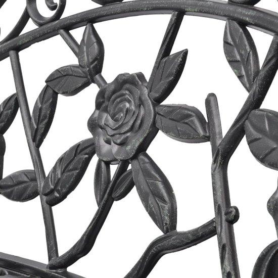 vidaXL Tuinbank 100 cm gegoten aluminium groen