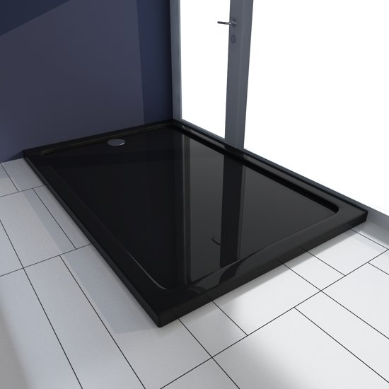 Favoriete bol.com | vidaXL Douchebak rechthoekig ABS zwart 80 x 120 cm UJ53