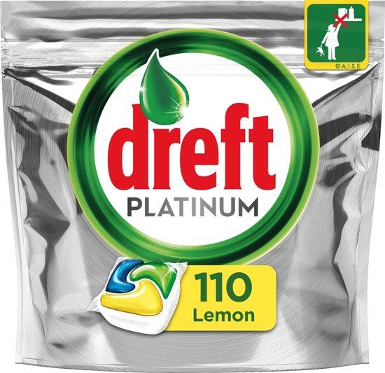 Dreft Platinum Citroen - Kwartaalbox 5x22 Stuks - Vaatwastabletten