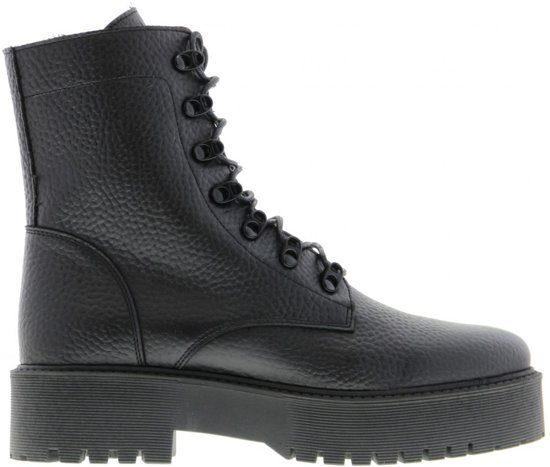 Tango | Bee chunky 5-a black tumbled boot/d-rings - black sole | Maat: 39