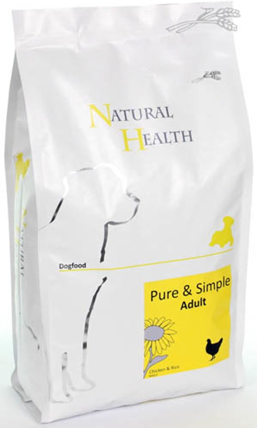 Natural Health Droogvoer Hondenvoeding Natural Health Dog Chicken & Rice single proteïn - premium