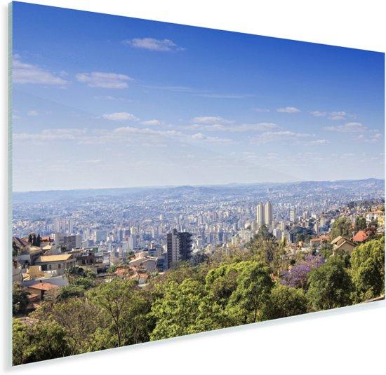 Zicht over de Braziliaanse stad Belo Horizonte in Zuid-Amerika Plexiglas 60x40 cm - Foto print op Glas (Plexiglas wanddecoratie)