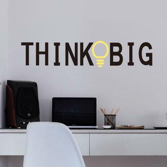muurtekst think big ideaal voor kantoor woonkamer slaapkamer