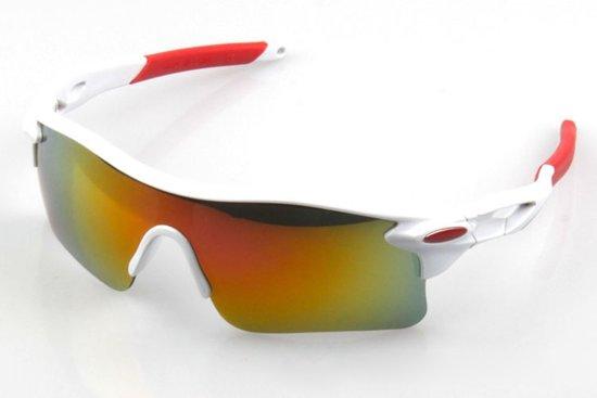 Premium Fietsbril - Wielrenbril / Sportbril /  Fiets / Sport / Wielren Zonnebril - Wit