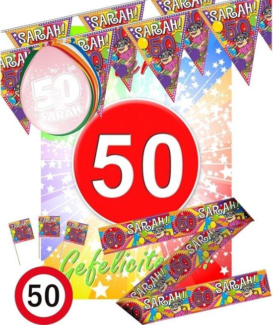 versiering 50 jaar sarah bol.| Sarah versiering pakket, Fun & Feest Party Gadgets  versiering 50 jaar sarah