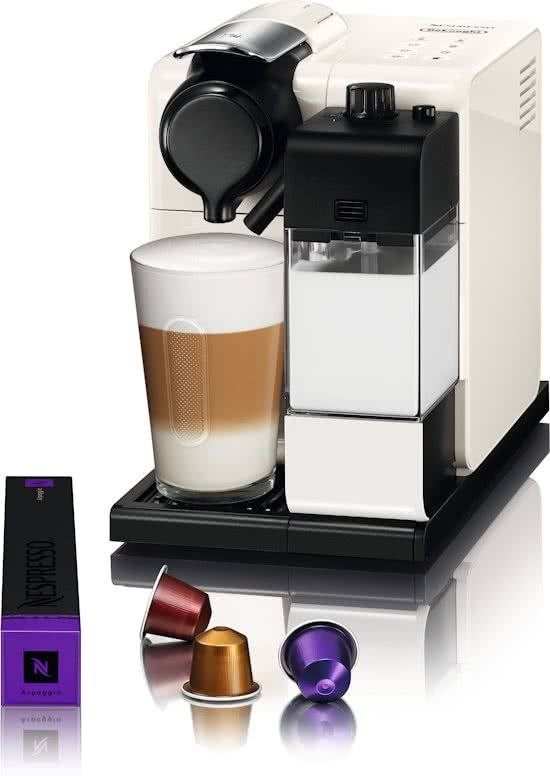 nespresso de 39 longhi lattissima touch en550 w koffiecupmachine silky white. Black Bedroom Furniture Sets. Home Design Ideas