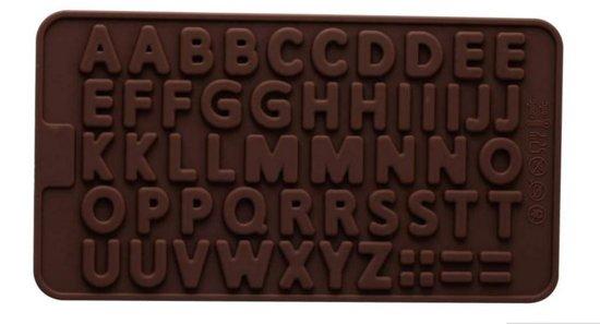 LeuksteWinkeltje Chocoladevorm Alfabet Siliconen mal - ijsblokjes