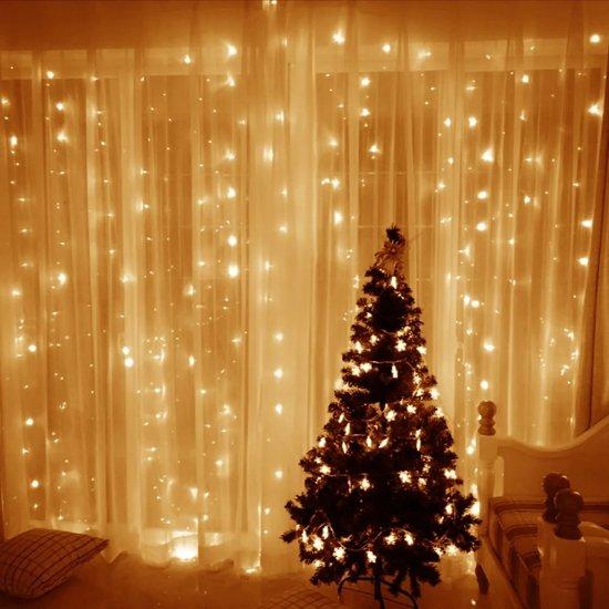 Lichtgordijn - LED gordijn - Kerstverlichting - 3x3m - Warm Wit