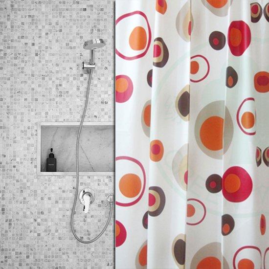 bol   roomture - douchegordijn - retro circles - 120 x 200