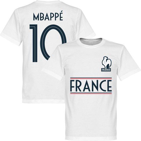 Frankrijk Mbappe 10 Team T-Shirt - Wit - XL