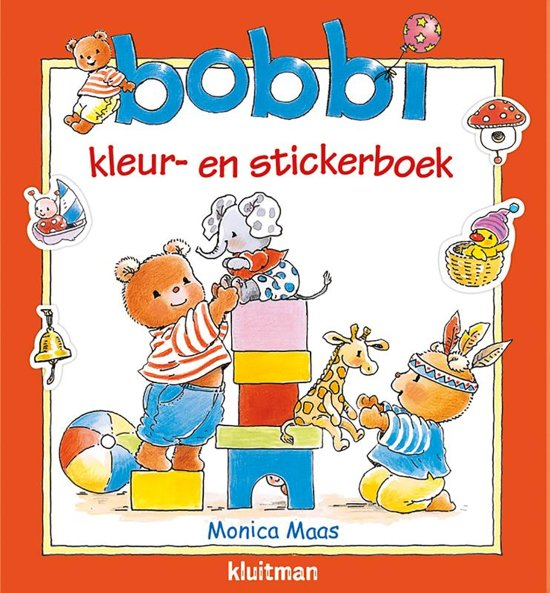 Boek cover Bobbi - Bobbi kleur- en stickerboek van Monica Maas (Paperback)