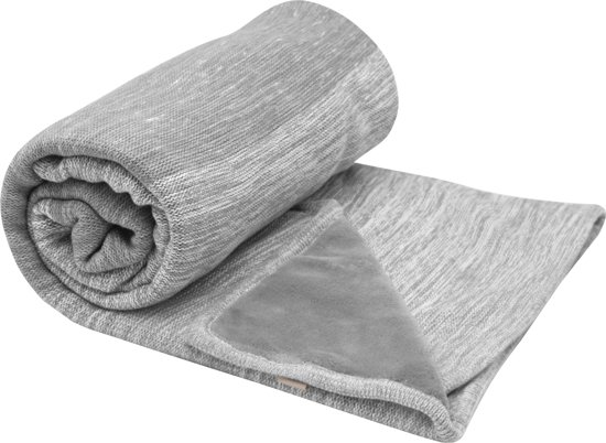 Ledikant deken stylish cocooning storm grey double layer