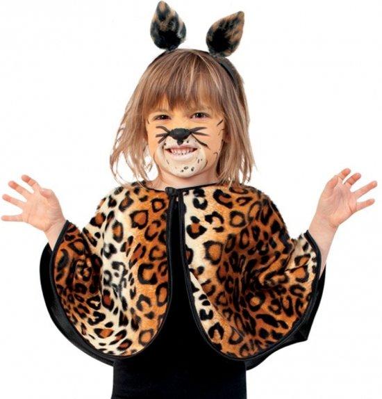 Peuter verkleed poncho luipaard/panter 104-116