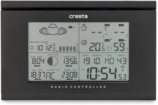 Cresta DTX355 - Digitaal Draadloos Weerstation - Zwart