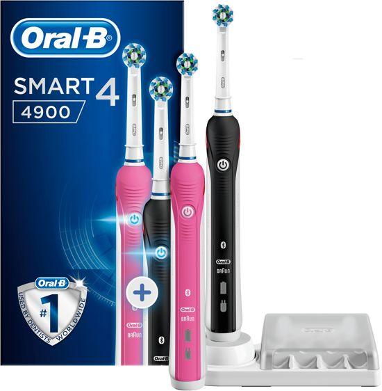 oral b smart 4 4900 duo giftpack elektrische tandenborstel. Black Bedroom Furniture Sets. Home Design Ideas