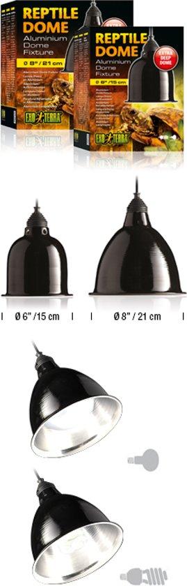 Exo Terra Reptile Dome Lamphouder - Zwart - S - Ø 15CM