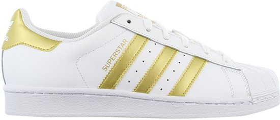 adidas Originals Superstar BY8757 - Dames Sneakers Schoenen Sportschoenen  Wit-Goud - Maat EU 44 2/3 UK 10