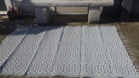 Tuin kleed ,buitenkleed Zwart - Wit  Groot  2.20 x 1.50 cm