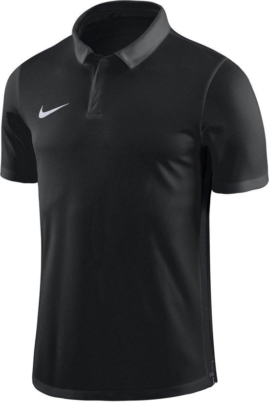 Nike Dry Academy 18 SS Polo Junior  Sportpolo - Maat 128  - Unisex - zwart/grijs/wit S - 128/140