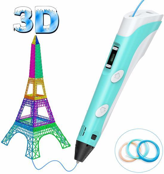 3D pen - 3D printer pen - 3D tekeningen - tekenen - blauw