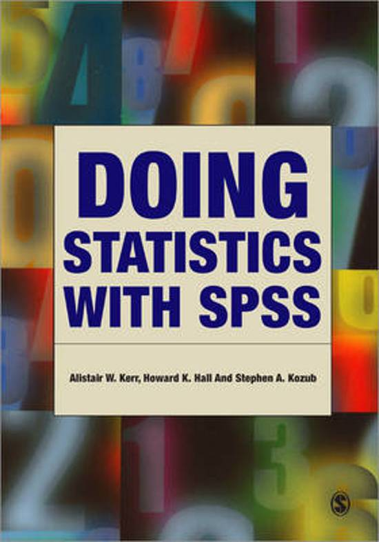 Doing Statistics With SPSS