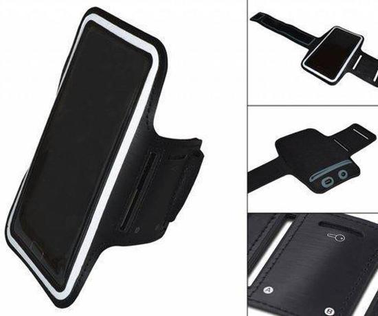 Comfortabele Smartphone Sport Armband voor uw Archos 50 Titanium, Zwart, merk i12Cover