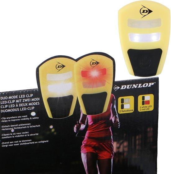 2 Stuks set Sport LED Hardloop Clip / Fiets verlichting met duo-mode LED - Rood en Wit Hardloop Verlichting Lampjes stabiel en knipper stand