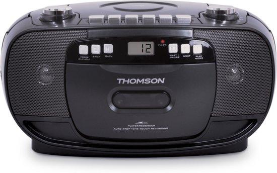 Thomson RK200CD FM-radio en CD Speler met Cassettedeck Recorder - Zwart