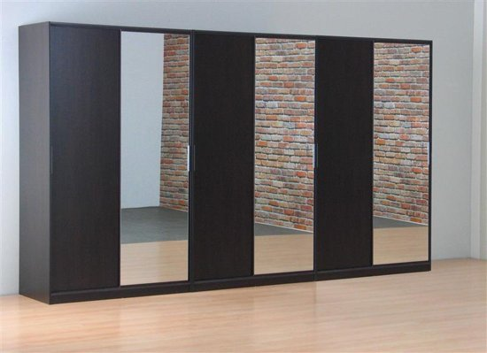 Bol.com tvilum kaja schuifdeurkast 6 deurs kledingkast met spiegel