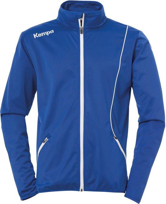 Kempa Curve Classic Trainingsjas - Maat 140  - Unisex - blauw/wit