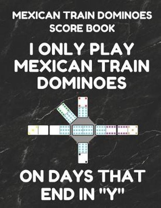 Mexican Train Dominoes Score Book