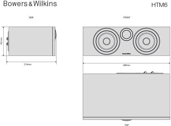 Bowers & Wilkins HTM6 Zwart