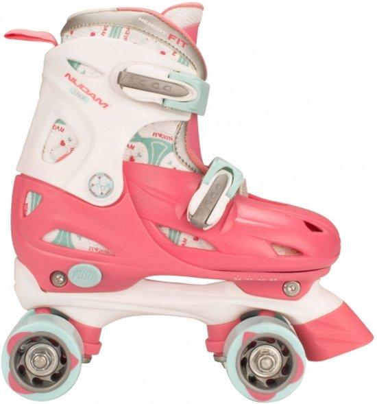 Roze verstelbare rolschaatsen maat 30-33
