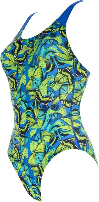 7db2a77788c98a Speedo Allover Splashback V1 Badpak - Maat 170/176 - Meisjes - blauw/groen