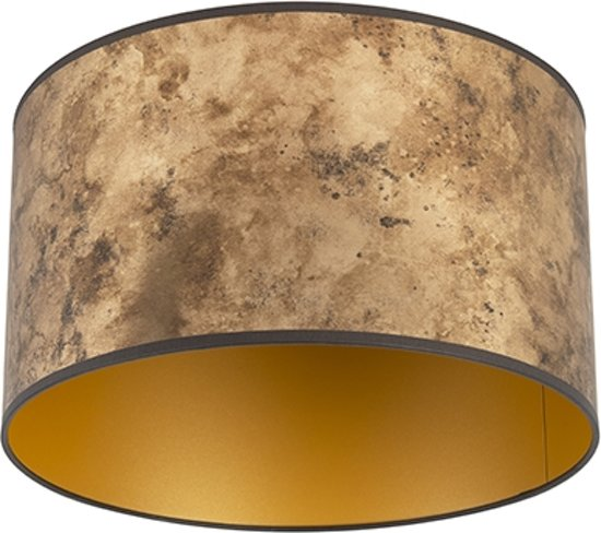 Bol Com Qazqa 35 35 20 Lampenkap O 350 Mm Goud Messing