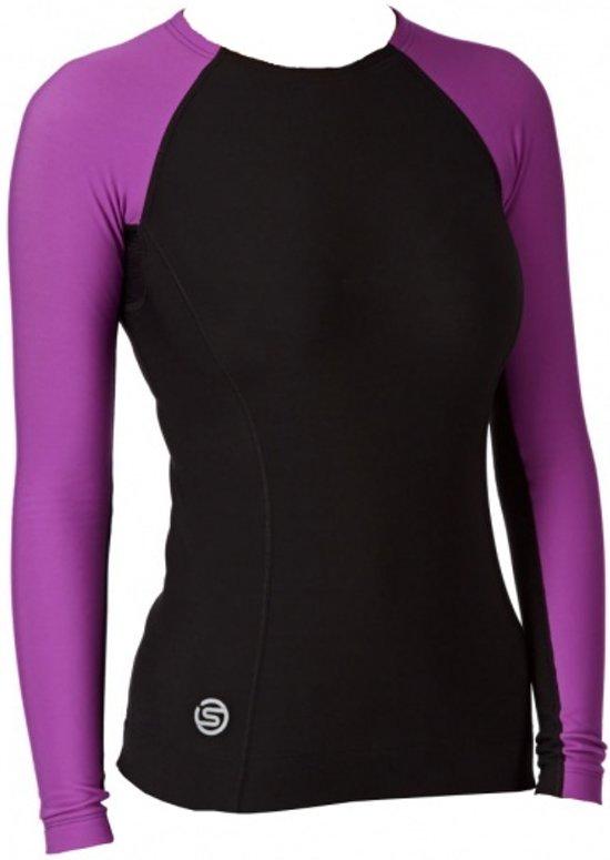 Skins Thermo Shirt Lang A200 Dames Zwart Paars Maat Xs
