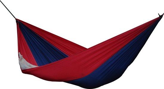 Parachute Hangmat Dubbel - Marine blauw/Rood