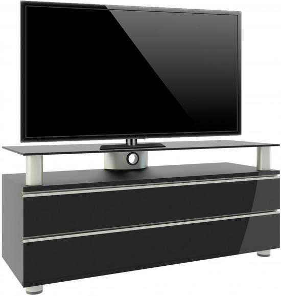 Zwarte Kast Met Glas.Bol Com Tv Meubel Tv Kast Dasano Premium Verrijdbaar Zwarte Lak