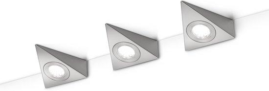TRIO, Wand lamp, Ecco incl. 3 x LED,SMD,3,0 Watt,3000K,200 Lm. Armatuur: Metaal, Nikkel mat L:12,4cm, L:11,0cm, H:4,3cm Schakelaar,